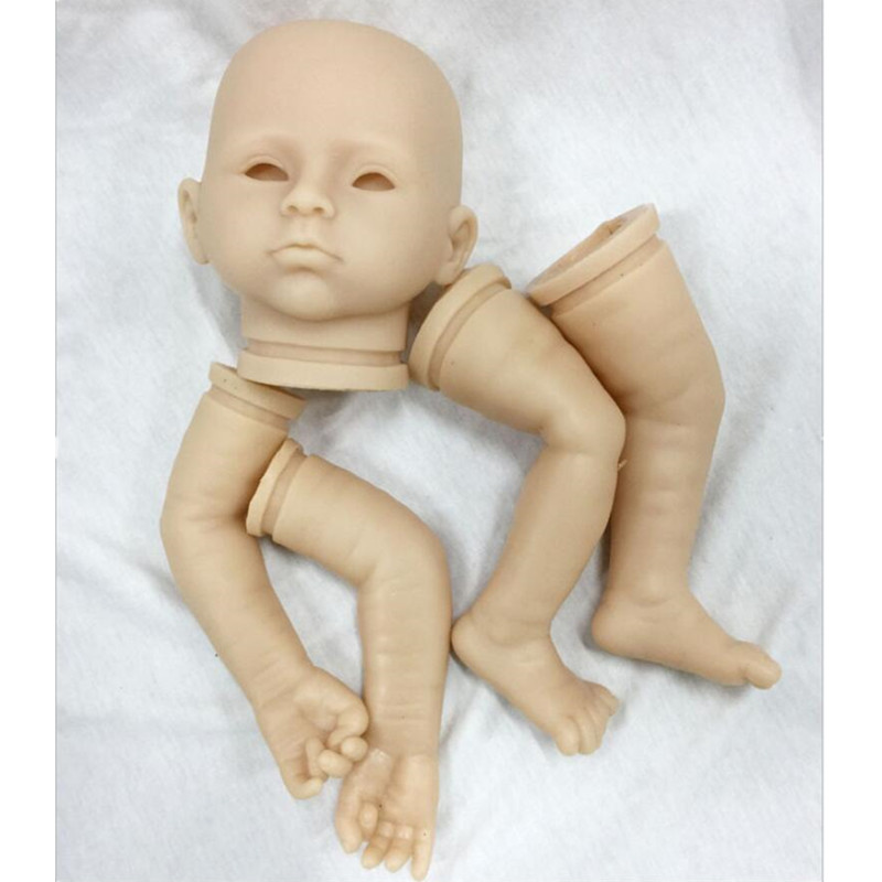 Reborn Doll Kits for 20inches Soft Vinyl Reborn Baby Dolls Accessories for DIY Realistic Toys for DIY Reborn Dolls Kits dk-95 good price reborn baby doll kits for 17 baby doll made by soft vinyl real touch 3 4 limbs unpainted blank doll diy reborn doll