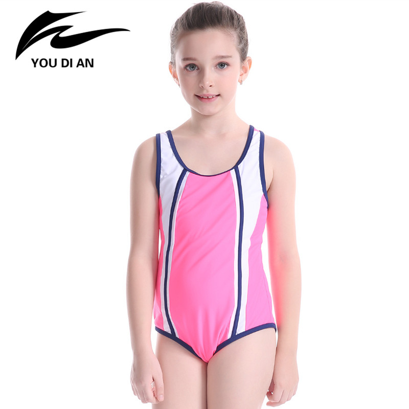 Girls Swimming Suit 2017 One Piece Safe Comfortable Beachwear Bathing Suit Summer Pool Swimwear Kids Sportswear Cute Children