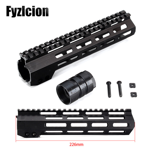 9 Ar15 Free Float M Lok Handguard Picatinny Rail Slim Style Steel