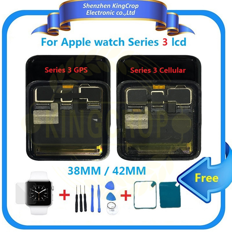Original For Apple Watch Series 3 GPS LCD Display Touch Screen Digitizer Series3 S3 38mm/42mm