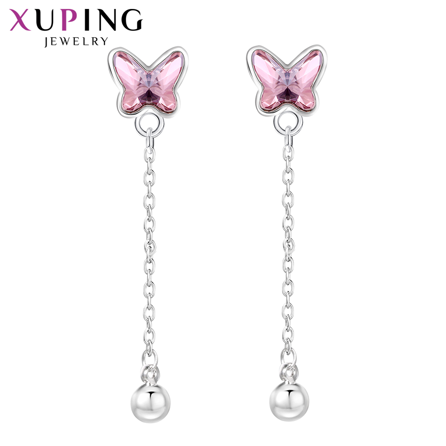 Xuping Butterfly Shaped Dangle Earrings Crystals from Swarovski Romantic Jewelry Ladies Party Free Gifts Wrapping S149-20533