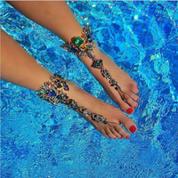 2017 Hot Sale Boho Bead Anklet Wedding Foot Jewelry Chain Barefoot Sandals Summer Vacation Beach Foot
