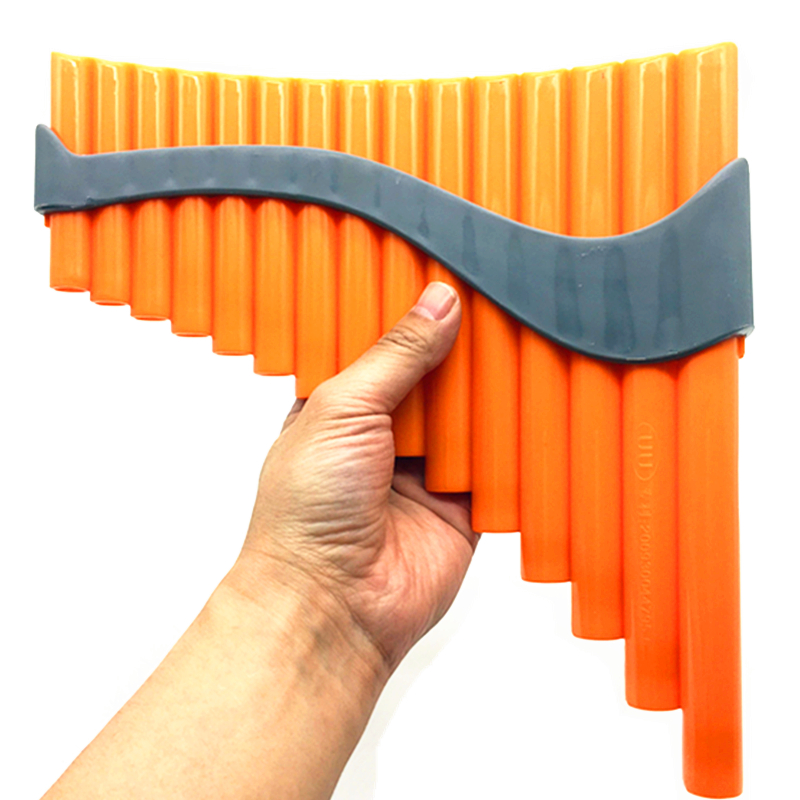 ФОТО High quality 15 Pipes ABS Panflute Key of G Flute Handmade panpipe Folk Musical Instruments with bag for beginner Kids student