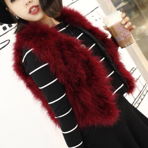 rouge Vison Furry Faux Hiver M917 Manteaux dark Femme Automne De Femmes jaune ardoisé Red Gilet argent multi lavande 2018 Fourrure noir Beige Coloré Dinde kaki zpwzaxq