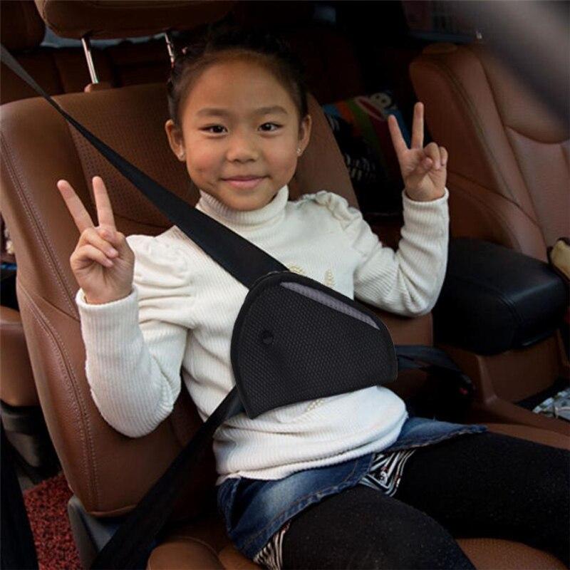 Novo Triângulo Bebê Crianças Dispositivo de Ajuste Seguro Ajustador Do Cinto de segurança Do Carro Auto Tampa do Cinto de Segurança Criança Posicionador de Protecção Pescoço Respirável