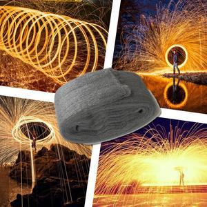 Image 1 - Tendance photographie spectaculaire Fiery Photo Selfie outil acier laine haute qualité métal fibre pour la peinture à la lumière longue exposition