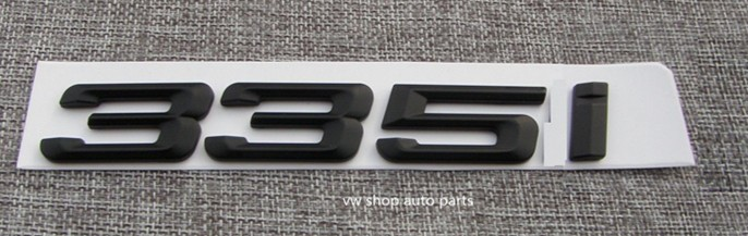 Trunk Lid Rear Emblem Badge Chrome Or matte black Letters 335i for BMW 3-Series E90 E92 F30 epman turbo intercooler for bmw 135 135i 335 335i e90 e92 2006 2010 n54 ep int0022bmwt335i