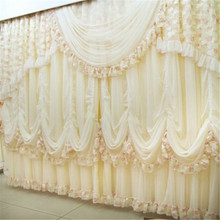 FADFAY Home Textile Custom Made Curtains European Curtains Luxury Wedding Curtains Royal Wedding Decorations 2 Panels
