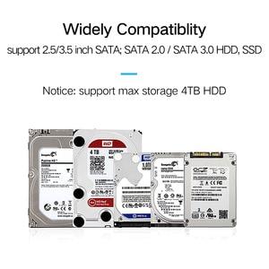 Image 3 - Ugreen sata usb3.0 dönüş masaüstü katı hal sürücü 3.5 inç sabit disk aktarım kablosu veri kablosu kolay sürücü hattı 2.0