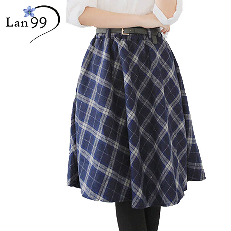 Women s Plaid Skirts font b Tartan b font Woolen Plaid Skirts Kilt Winter Wool Umbrella