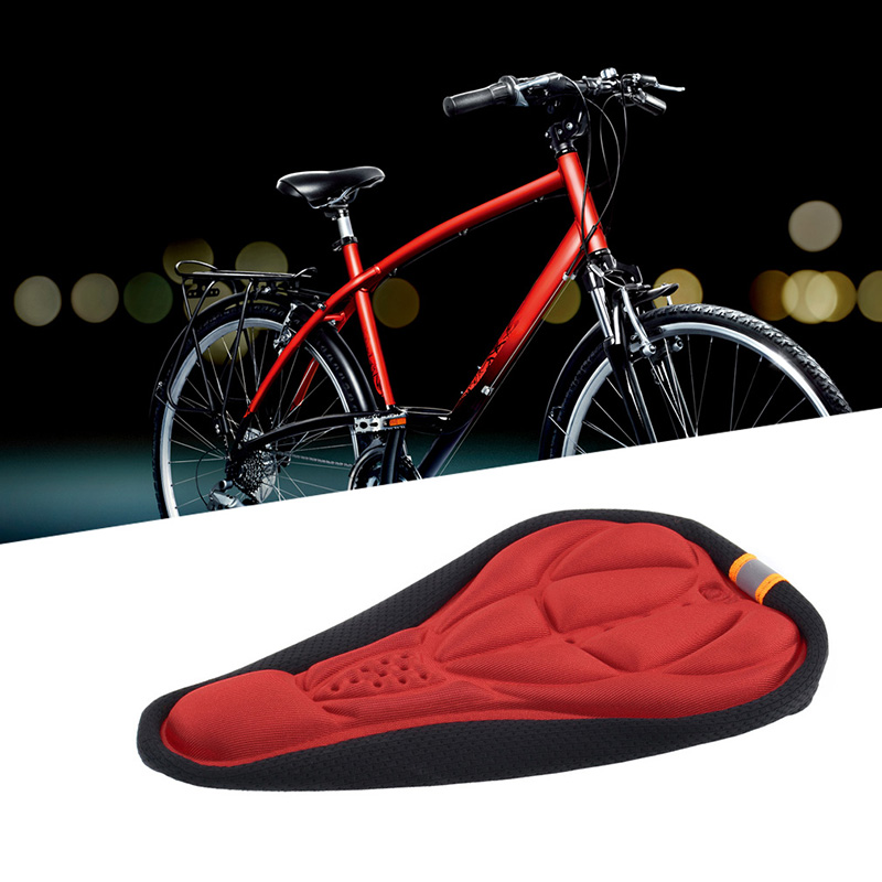 3306 3D Multicolor Bike Seat Pad Cushion For Bicycle Saddle Extra Soft Comfort