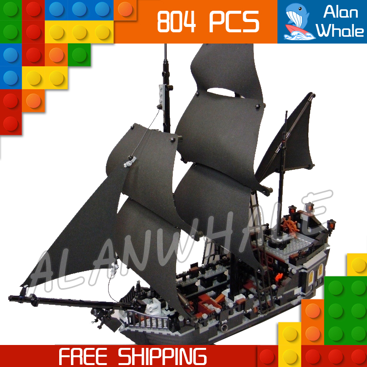 804pcs Pirate Series Pirates of the Caribbean 16006 Black Pearl Model Building Blocks Sets Bricks Toys Compatible With Lego 1513pcs pirates of the caribbean black pearl general dark ship 1313 model building blocks children boy toys compatible with lego
