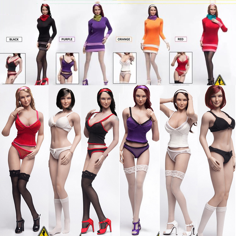 Flirty Girl FGC2017-12 ~ FGC2017-19 Mysterious Girl Set with Head Carving for 12 inches seamless female body Flirty Girl FGC2017-12 ~ FGC2017-19 Mysterious Girl Set with Head Carving for 12 inches seamless female body