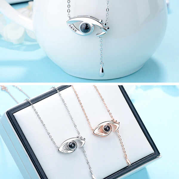 45fa548b31 ... AILIN New Design Light Projection Angel Eye Necklace Inscribed with