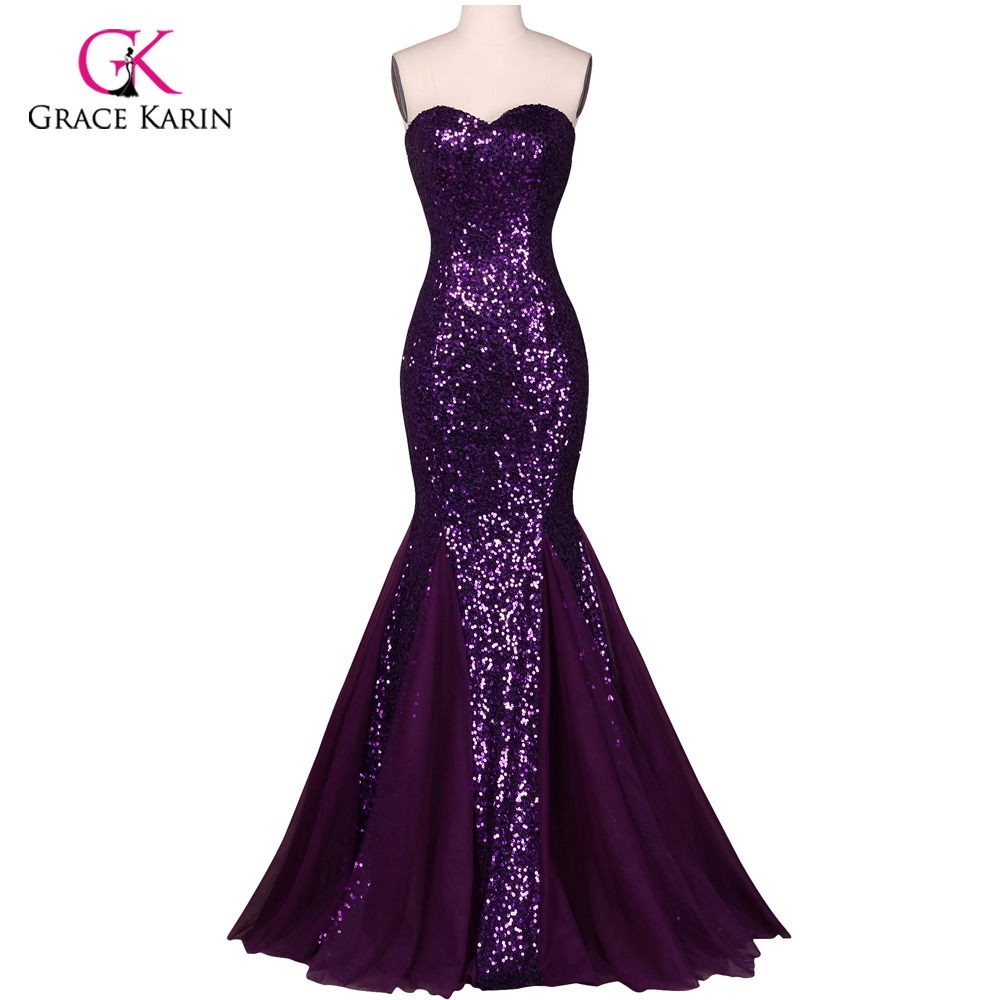 Aliexpress.com : Buy Luxury Sequins Mermaid Evening Dresses Grace ...