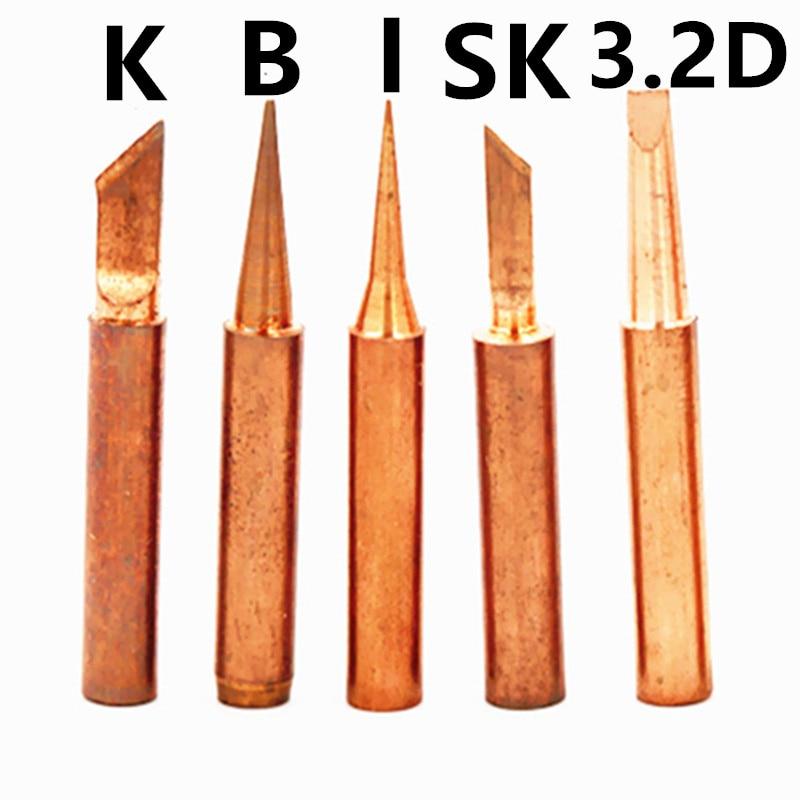 Mix type 900M-T DIY pure copper Soldering tip welding sting For Hakko 936 FX-888D Saike 909D 852D+ 952D