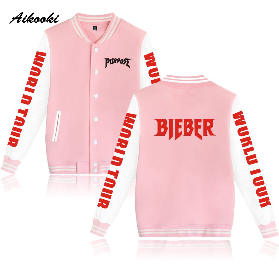 Women's Clothing Jackets & Coats Aikooki Justin Bieber Purpose Tour 2018 Pop Baseball Jackets Capless Hoodies Men/women Sweatshirts Fashion Hoodies Winter Clothe