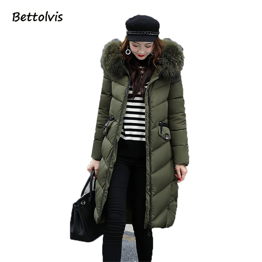 Bettolvis 2017 winter jacket women parka Cotton-padded Outwear long womens winter jackets and coats camperas mujer invierno 2017 winter down jackets women winter coats female long hooded cotton padded parka wadded outwear chaquetas invierno mujer yl739