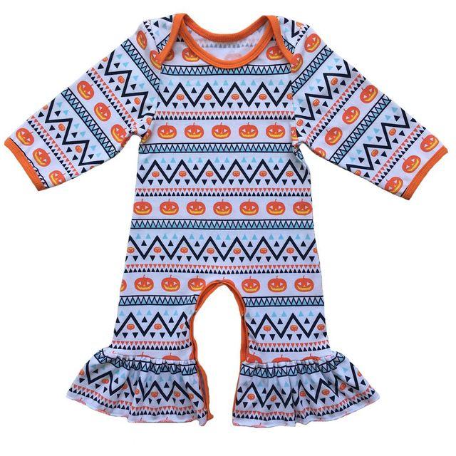 halloween baby organic overallinfant clothesorange pumpkin baby pajama baby jumpsuit