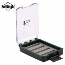 SeaKnight MAXWAY Lure Box 02 Fly Fishing Box Waterproof Floating Box with Retention Ropes Fly Fishing Tackle Tool 10*7*2cm 72g