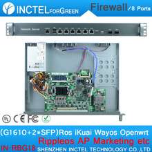 6 82574L 2 Groups Bypass Rack Ears 1U Fortigate Firewall with G1610 CPU 1000M 2 82580DB