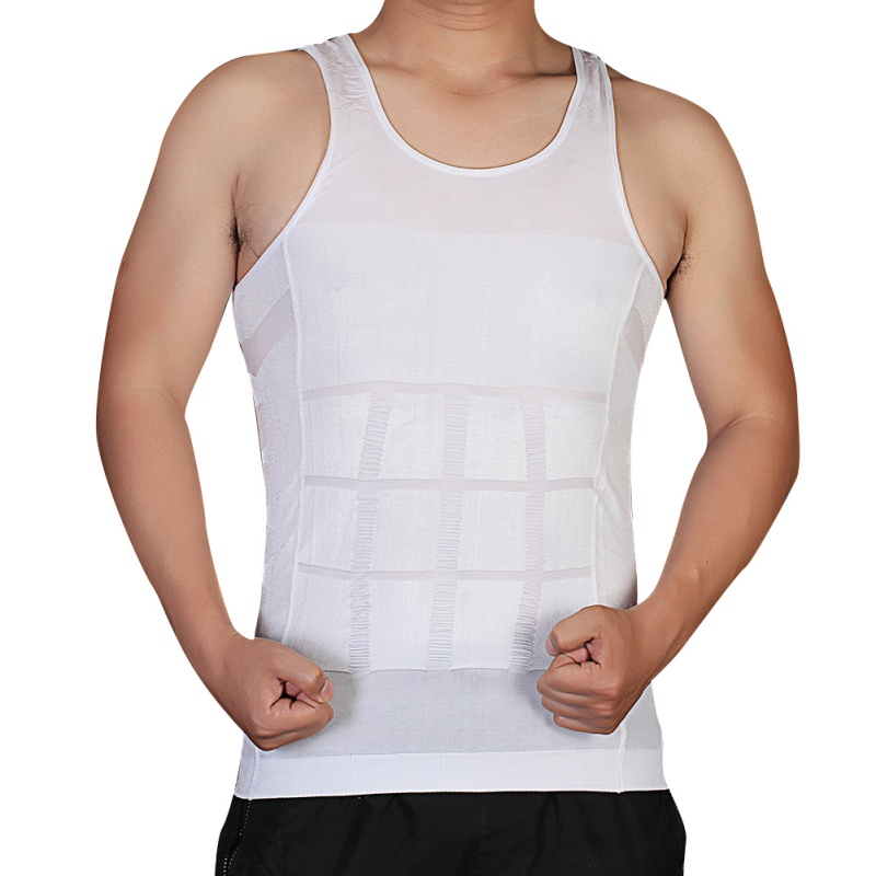 Summer Men Shapper Vest Body Slimming Tummy Belly Waist Girdle Shirt Shapperwear Underwear