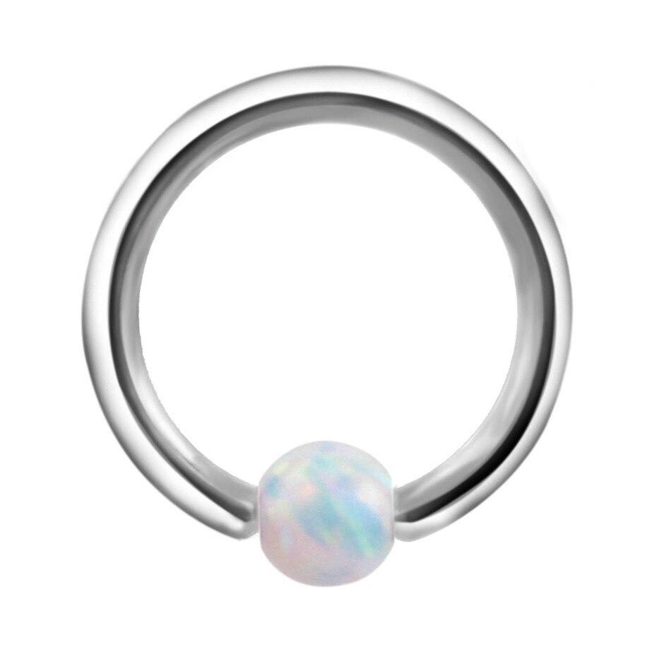 1pc 1,0 * 8 mm opal kameni zarobljeni perli prsten Piercing nosovi - Modni nakit - Foto 2