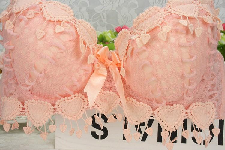 Hot Sale Women Underwear Set Cotton Bra Panty Set Brand Embroidery Tassel Sexy Lingerie Brassiere Sets Push Up bra brief sets 13