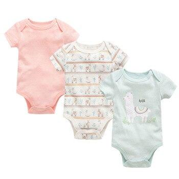 d7a5b5236de лот для новорожденных комбинезон оголовье хлопок Летняя одежда для малышей  короткий рукав