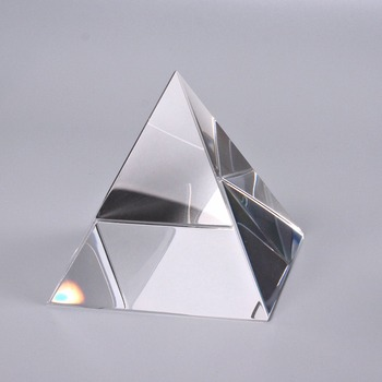 70mm Crystal Glass Pyramid Clear Rare Crystals Paperweight Craft ornaments for Home Office Decor