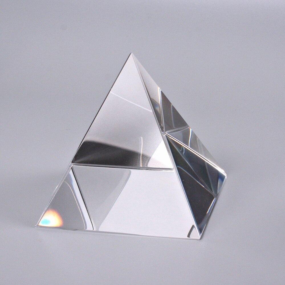 70mm 크리스탈 유리 피라미드 분명 희귀 한 크리스탈 문진 공예 장식품 홈 오피스 장식-에서피규어 & 미니어처부터 홈 & 가든 의  그룹 1