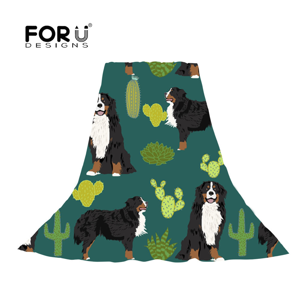 FORUDESIGNS 2018 Spring Summer Long Women Scarf Bernese Mountain Dog Prints Soft Thin Chiffon Scarf Silky Sunscreen Beach Stoles