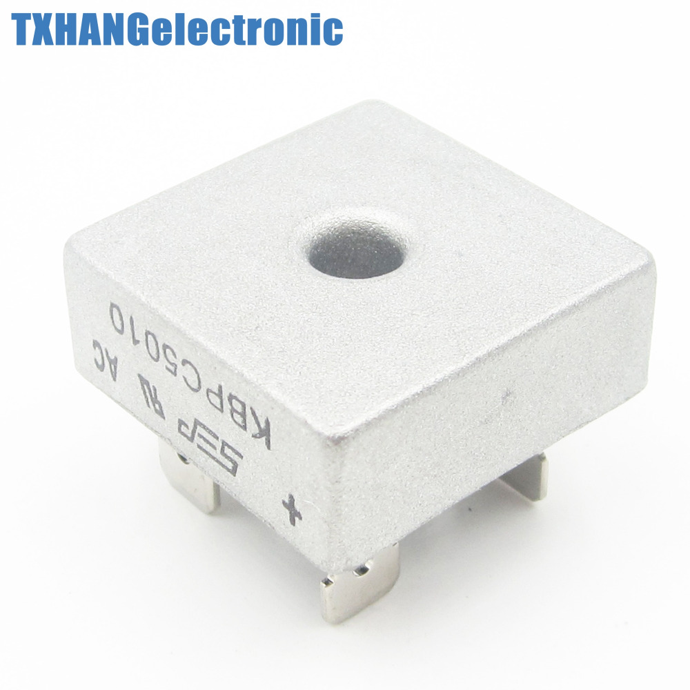 50A 1000V Metal Case Single Phases Diode Bridge Rectifier KBPC5010
