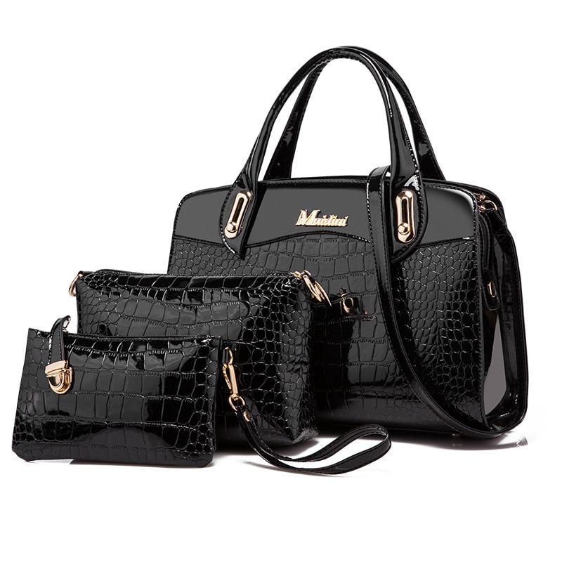 Fashion 3PCS Set Women Handbag Composite Bag Handbag Women s Shoulder Bag Luxury Designer Female Stone