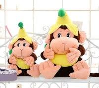 Cute 60cm&80 cm Banana Monkey Plush Doll Boots Toy Stuffed Animals & Plush Kids Christmas Birthday Gift