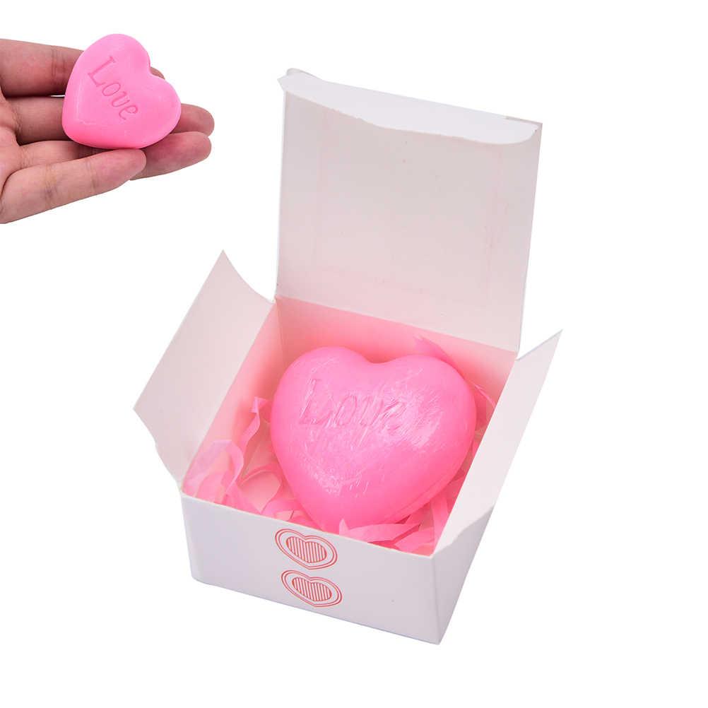 愛のハート型のデザイン浴用石鹸結婚式パーティー · ラブ · ギフト石鹸好意バレンタインギフト 1 pc 手作り