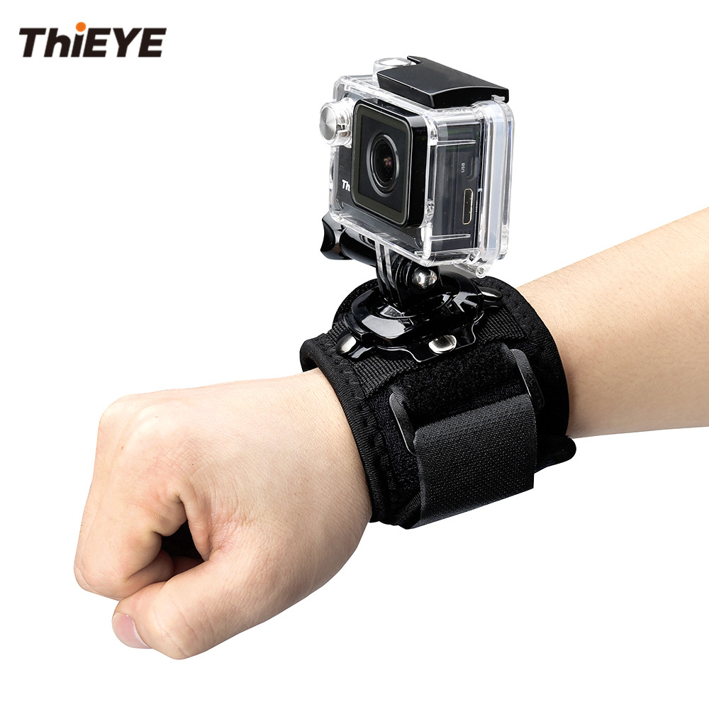 лучшая цена ThiEYE Action Camera Accessories 360 Degree Rotary Wrist Strap Mount for Gopro Xiaomi Yi Eken Action Cam Accessory ThiEYE Series