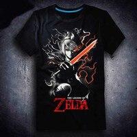 Nieuwe De Legende van Zelda T-shirt Game LINK mannen t-shirt Katoen Zomer Korte mouwen Tees tops