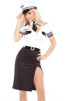 Halloween Cosplay Costumes Suit Stewardess Fantasias Sexy Erotic Corset Temptation Dress Eroticos Fantasia Women Sexy Dress