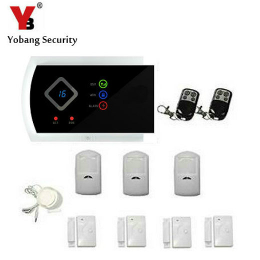 YobangSecurity IOS Android APP English Russian Spanish Italian Slovak GSM Wireless Home Burglar Security Alarm System PIR Motion english russian spanish wireless wired home security gsm alarm system with relay ios android app remote control alarm system