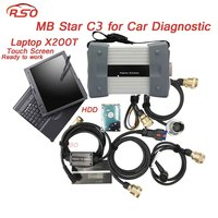 Multi languages MB STAR C3 Multiplexer diagnostic scanner V05.2018 software with X200T PC directly to use for MB vehicles