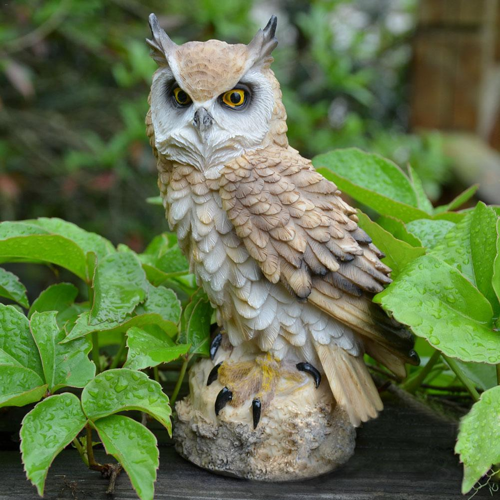 Cute Resin Big Owl Decoration Craft Owl Decorative Garden Ornaments Fairy Garden Ornament Landscape Decor