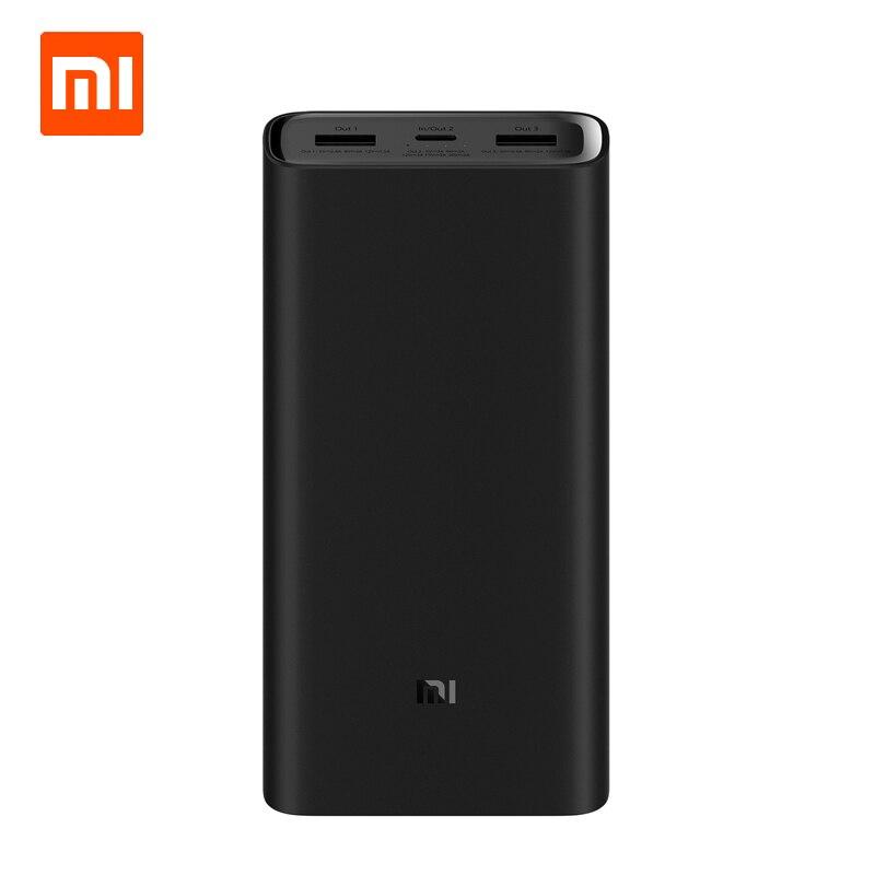 Origine Xiao mi Puissance Banque 3 20000 mAh Portable Chargeur Alimentation Double USB USB-C Deux-façon Rapide De Charge mi Externe Batterie