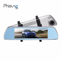 Phisung W07 Car DVR Dual Lens 7.84in IPS Stream RearView Mirror FHD 1080P Dash Cam Camera Video Recorder Auto Registrar