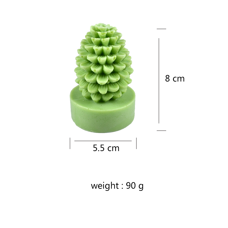 Nicole Silicone Candle Mold 3D Pineapple Tree Craft Handmade Soap Mould in Candle Molds from Home Garden