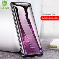Chyi 3D Gebogen Hydrogel Film Voor Samsung Galaxy S9 Plus S10 5G Screen Protector S9 + S8 S7 Rand volledige Cover Met Gereedschap Niet Glas