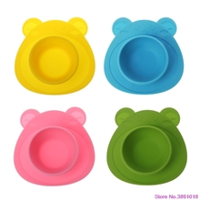 New Kids Baby Plate Silicone Dishes Bowl Feeding Food Pratos Tray Dishes For Toddler