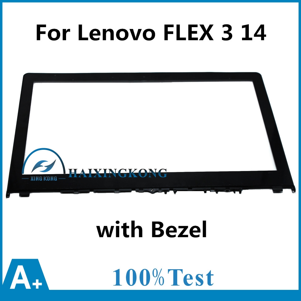 New 14'' Touch Screen Digitizer Glass for Lenovo FLEX 3 14 with Bezel for Lenovo Yoga 500 14 series Yoga 500 14ACL 14IHW 14IBD 14led lcd touch screen digi assembly with bezel for lenovo 500 14ibd yoga 500 14ihw 500 14isk 80n4 80n5 80r5 1366x768 1920x1080