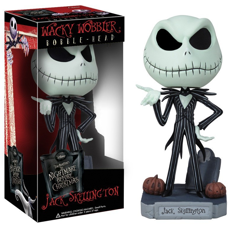 The Nightmare Before Christmas Jack Wacky Wobbler Bobble Head PVC Action Figure Collection Toy Doll Kids Toys Best Gifts new animation tim burton the nightmare before christmas jack skellington bobble head cute 11cm action figure href