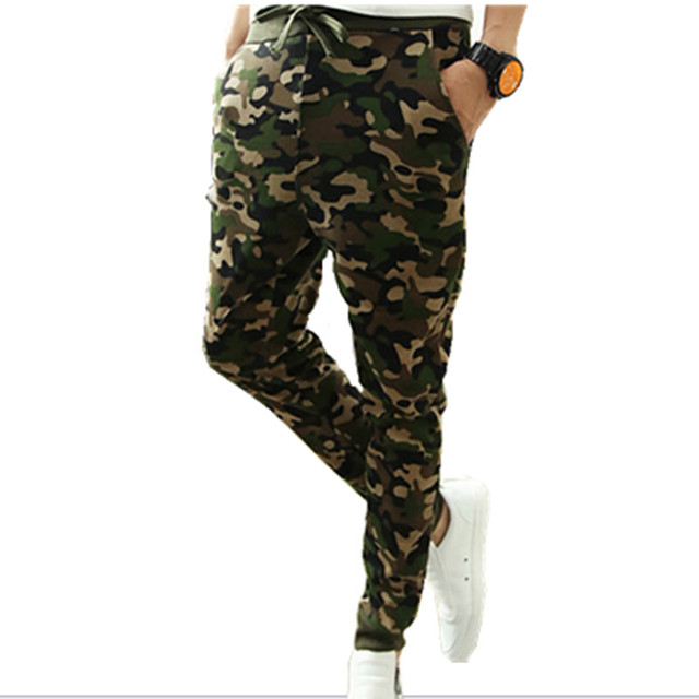 LURRSN Brand 2017 Man New Arrival Spring Summer Autumn Army Fashion Harem Causal Pants Men's Camouflage Style Trousers Wholesale